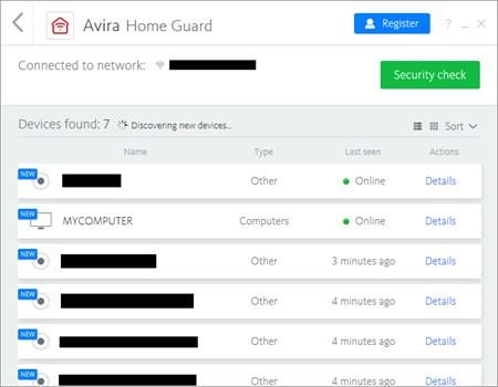 Avira Free Antivirus2018のHome Guard